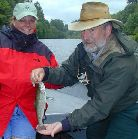 denise hiill and chuck wagner, mckenzie / trout and steelhead fly fishing / McKenzie River fly fishing guide