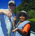 alec and raji, santiam / trout and steelhead fly fishing / McKenzie River fly fishing guide