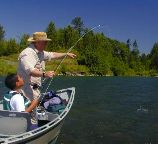 tom clements and raji, santiam / trout and steelhead fly fishing / McKenzie River fly fishing guide