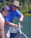 amanda and tom clements, santiam / trout and steelhead fly fishing / McKenzie River fly fishing guide